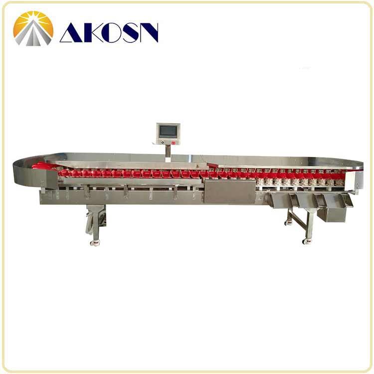 带水鸡翅重量分选机在线自动检测重量分级